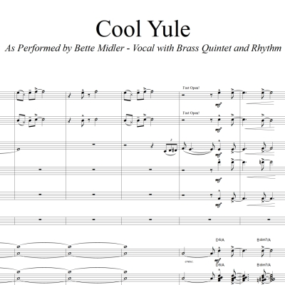 Cool Yule - Bette Midler Vocal (in D) with Brass Quintet and Rhythm Section Accompaniment