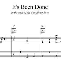 It's Been Done - Oak Ridge Boys - TTBB Lead Sheet