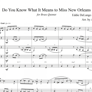 Do You Know What It Means to Miss New Orleans - for Brass Quintet