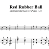 Red Rubber Ball - Paul Simon - for Instrumental Solo and Piano Accompaniment