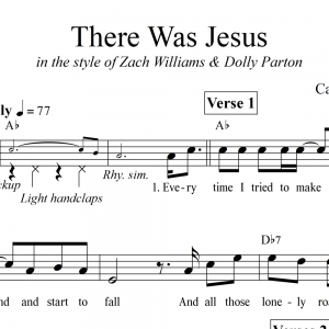 There Was Jesus - Lead Sheet