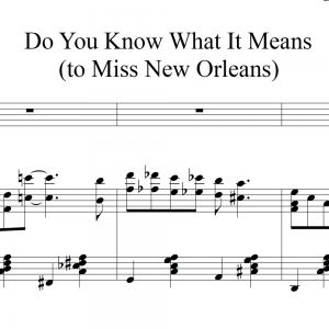 Do You Know What It Means to Miss New Orleans - Instrumental Solo with Piano Acc.