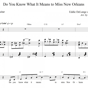 Do You Know What It Means to Miss New Orleans - Piano/Vocal/Guitar