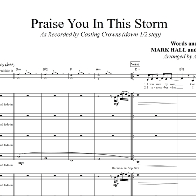 Praise You In This Storm - Casting Crowns - Rhythm/Vocal Plus Horns and Strings
