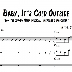 Baby, It's Cold Outside - Head Chart for Saxophone Duet/Trio/Quartet and Rhythm Section