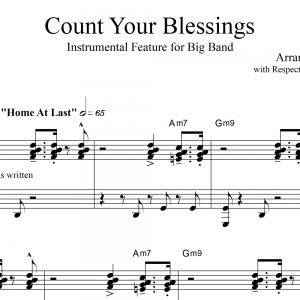 Count Your Blessings - Big Band Instrumental Feature