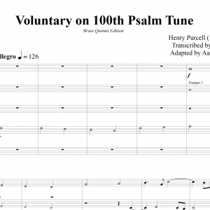 Voluntary on 100th Psalm Tune - Purcell - Brass Quintet