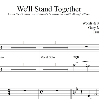 We'll Stand Together - Gaither Vocal Band String Reduction