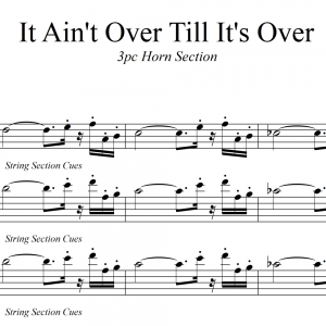 It Ain't Over Till It's Over - Lenny Kravitz Horn Chart