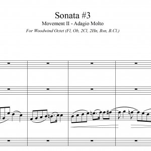 Sonata #3, Mvt. II - (Guilmant) Woodwind Ensemble