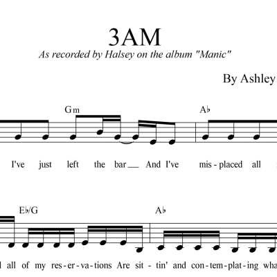3AM - Halsey - Lead Sheet