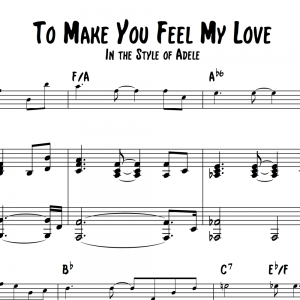 To Make You Feel My Love - Vocal Solo with Piano