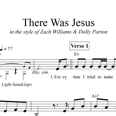 There Was Jesus - LOWERED KEY - Lead Sheet