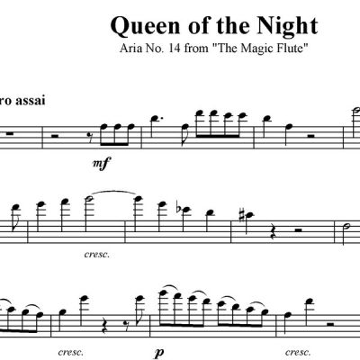 Queen of the Night - Aria - Trombone Solo with Piano Acc.