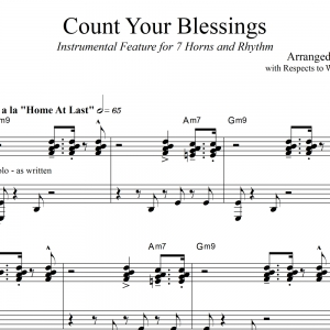 Count Your Blessings - Small Jazz Ensemble Instrumental Feature