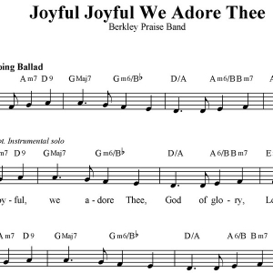 Joyful Joyful We Adore Thee - Worship/Praise Ensemble: Vocal/Rhythm with Horns