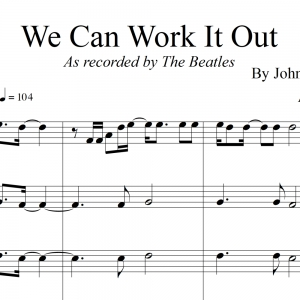 We Can Work It Out - The Beatles - for String Quartet