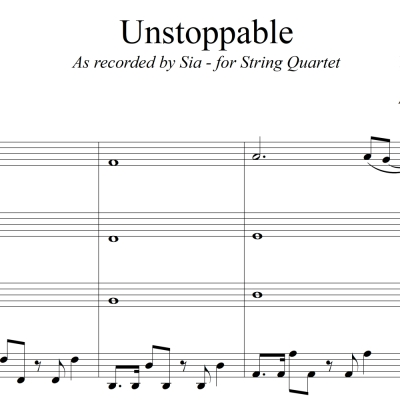 Unstoppable - Sia - String Quartet