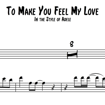 To Make You Feel My Love - Trombone Solo with Piano Accmpt.