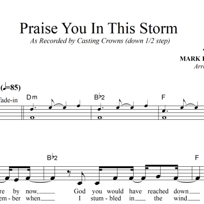 Praise You In This Storm - Casting Crowns - Lead Sheet
