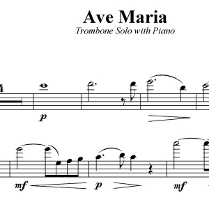 Ave Maria - Trombone Solo with Piano Acc.