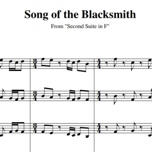 Song of the Blacksmith - 6 Brass Sheet Music