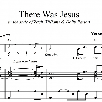 There Was Jesus - Piano/Vocal