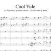 Cool Yule - Bette Midler Vocal (in D) with Big Band Accompaniment