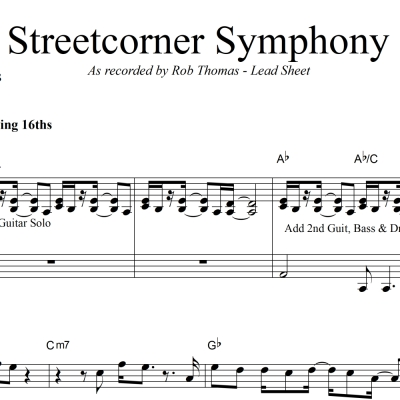 Streetcorner Symphony - Rob Thomas - Rhythm/Vocal/Lead Sheet