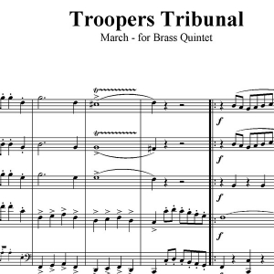 Trooper's Tribunal March - Brass Quintet