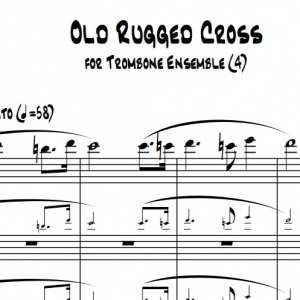 Old Rugged Cross - Trombone Quartet/Choir
