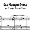 Old Rugged Cross - Clarinet Quartet/Choir