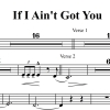 If I Ain't Got You - Alicia Keys - 3 or 4 Horn Chart