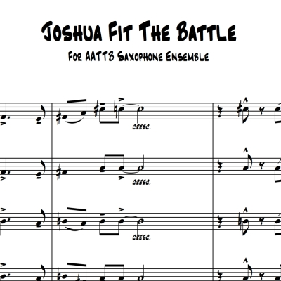 Joshua Fit The Battle - 5 Saxes Sheet Music