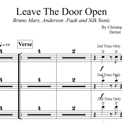 Leave The Door Open - Bruno Mars - 3 piece Horn Chart