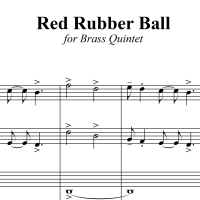 Red Rubber Ball - Paul Simon - for Brass Quintet