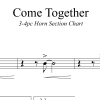 Come Together - The Beatles - 3-4 piece Horn Chart