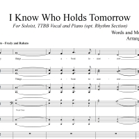I Know Who Holds Tomorrow - RHYTHM SECTION PARTS ONLY