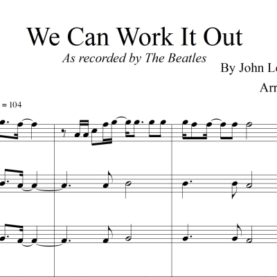 We Can Work It Out - The Beatles - Clarinet Quartet/Choir