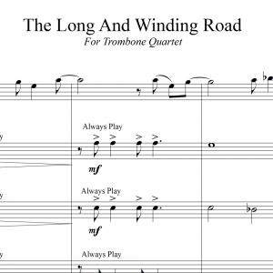 The Long And Winding Road - Beatles Trombone Quartet