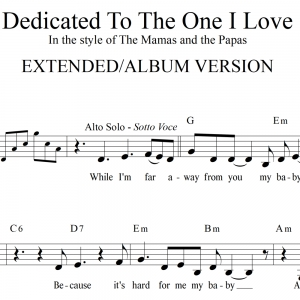 Dedicated to the One I Love - Rhythm & SATB Vocals