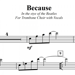 Because (Beatles) Trombone Choir