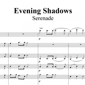 Evening Shadows - Serenade - Soloist plus Quintet sheet music