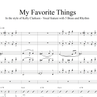 My Favorite Things - In the style of Kelly Clarkson - 5 Brass and Rhythm accmpt