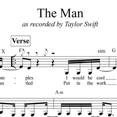 The Man - Taylor Swift - Lead Sheet