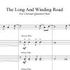 The Long And Winding Road - the Beatles - for Clarinet Quartet/Choir