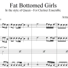Fat Bottomed Girls - Queen - Clarinet Quintet/Choir
