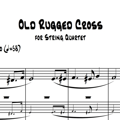 Old Rugged Cross - String Quartet